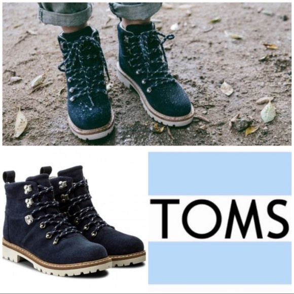 6fbc1e746c3 NEW TOMS Summit Suede Waterproof Navy Hiking Boots NWT